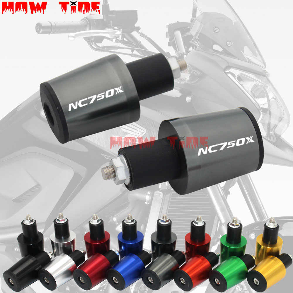 Hunter-Bike Motorcycle Handlebar Bar Ends Plugs Slider for Honda NC750 NC750S NC750X 2006-2019 and All 7//8 Handlebar Grips Motorbike Black