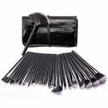 Professional 32 pcs Makeup Brushes Set Para Mulheres Moda Suave Rosto lábio Sobrancelha Sombra Make Up Brush Set Kit + Bag Bolsa maquiage(China)