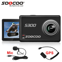 SOOCOO S300 4k Action Camera Sport Underwater With Remote Control External Microphone GPS Touch Screen Image Stabilization