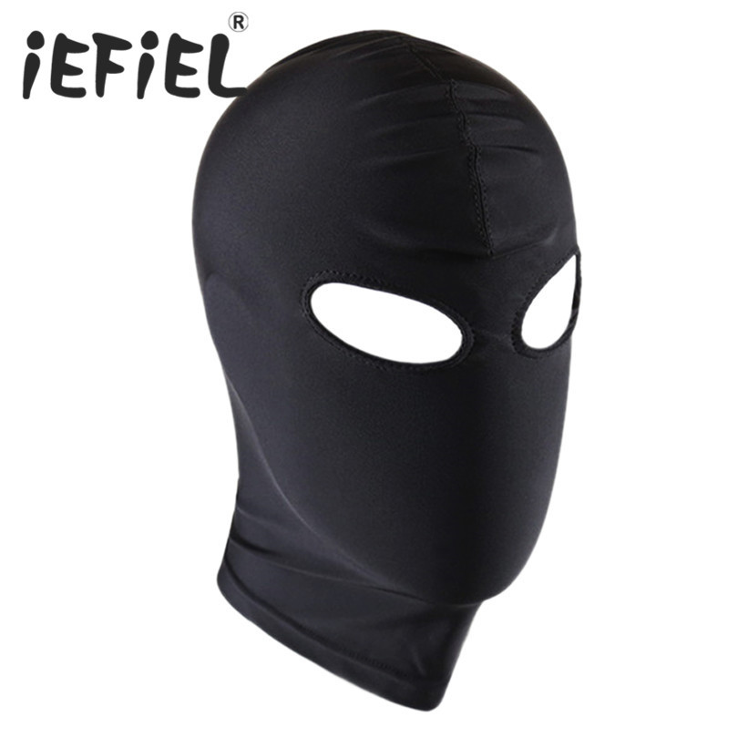 New Arrival Unisex Sexy Black Men Women Lingerie Headgear Mask Hood Bondage for Role Play Cosplay Costume for Lingerie Night