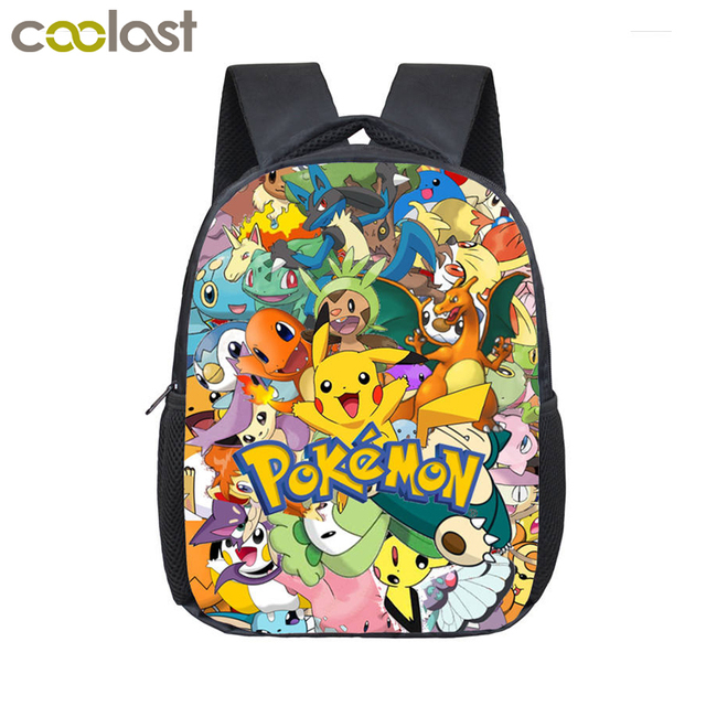b95191383907 Anime Pokemon Backpack Pocket Monster School Bag Ash Ketchum Pikachu School  Backpacks Girls Boys Toddler Bag Kids Book Bags