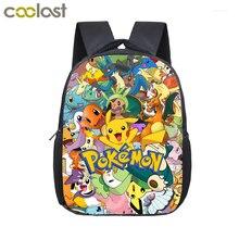 Anime Pokemon Pocket Monster Mochila Bolsa de La Escuela Ash Ketchum/Pikachu Mochilas Escolares Niñas niños Bolsa Niños Mochilas Diarias