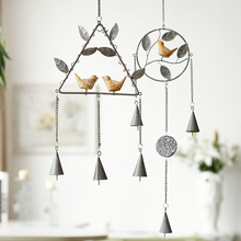 Creative Metal wholesale bird garden wind chime metal decoration for home beautiful decoration for home garden metal wind chime