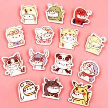 1PCS Dog cat Spider man Pikachu Acrylic Brooch Hello Kitty Badges Pin Backpack Clothes Decoration Brooches Anime Icons craft(China)