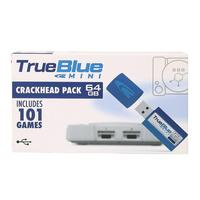HOBBYINRC 64GB True Blue Mini Crackhead Pack for PlayStation Classic Games & Accessories 101 games V1
