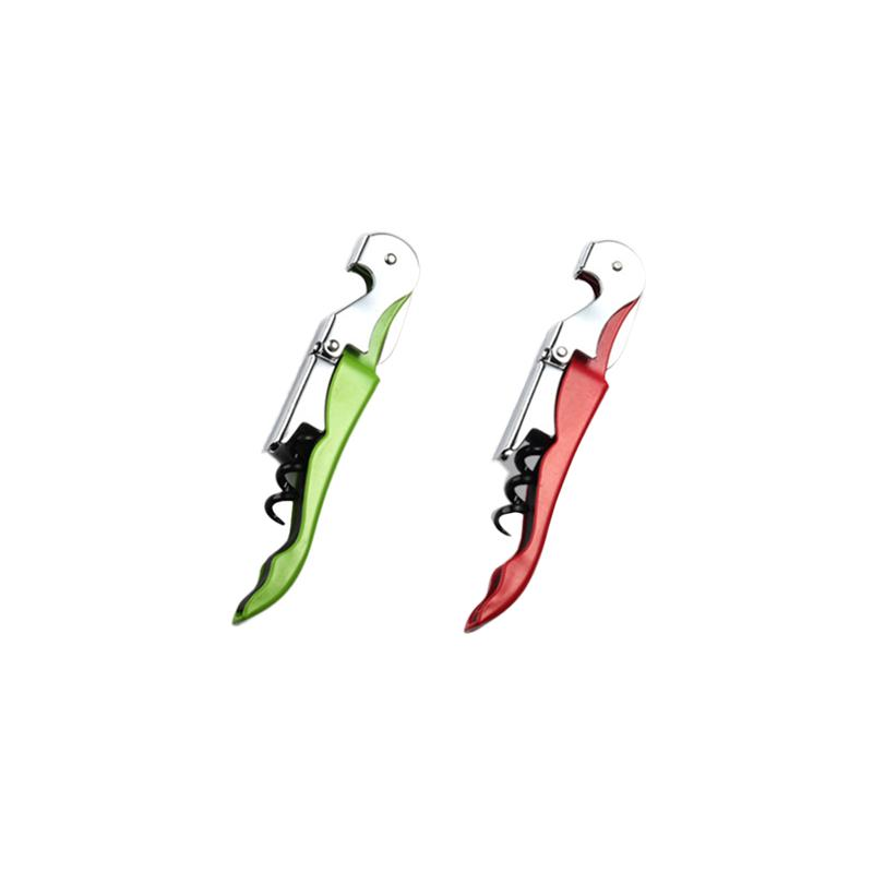 2Pcs Foldable Corkscrew With Foil Cutter Professional Bottle Opener For Wine Beer Home Bar Tool Party Supplies Random Color in Corkscrews Openers from Home Garden