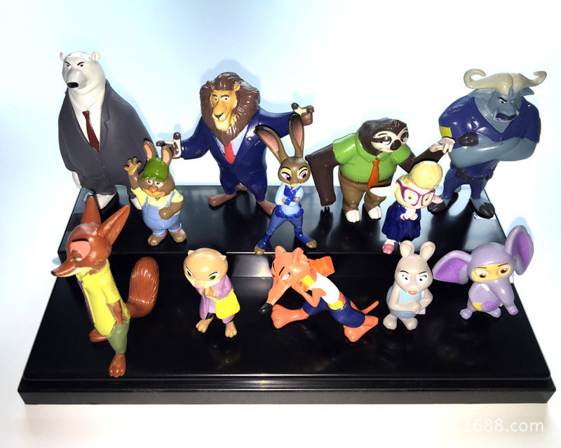 Toys 12Pcs/Lot 4~7cm Movie Zootopia Cartoon Utopia Animal Action Figure Toys Nick Fox Judy Zootropolis Figures Dolls mini qute full set 2 pcs lot hc zootopia huge nick wilde judy hopps plastic building block cartoon model educational toy no 9011