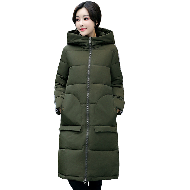 High Quality 2017 Female Long Slim Down Cotton Padded Coat Parkas Women Thick Warm Hooded Winter Jackets Plus Size S-3XL CM1614 new collocation winter warm parkas hooded pockets zipper solid thick women coat slim long flare slim cotton padded lady jackets