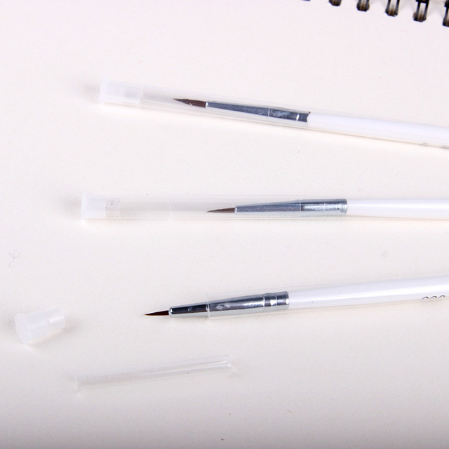 Artist Stationery Professional Fine Hand-painted Hook Line Pen Round Tip Watercolor Drawing Painting Brush Pen Art Supplies 5