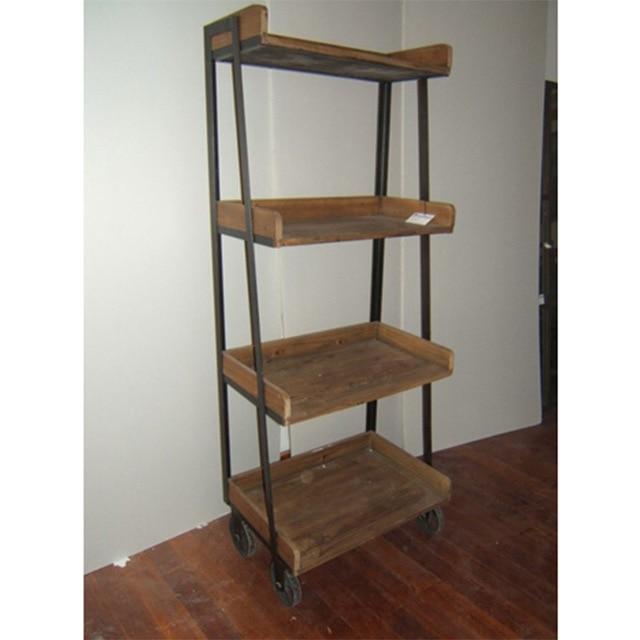 retrò fare il vecchio antico in ferro battuto mensola in legno ... - Mensole Con Legno Vecchio