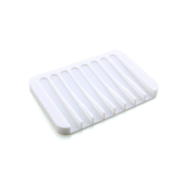 Reusable Eco-friendly Silicone Bathroom Soap Dish Plate Holder Tray Storage Case HUG-Deals