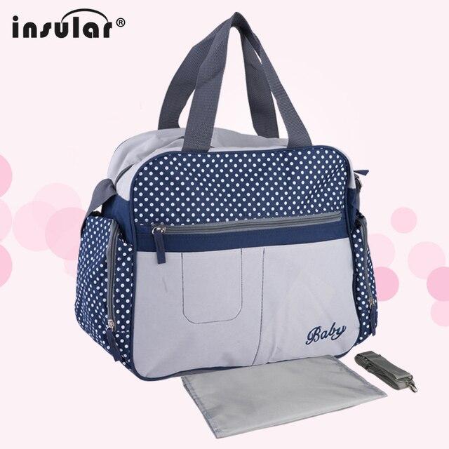 d9a9f386 Insular Large Capacity Mummy Nappy Bag Baby Diaper Changing Shoulder Bag  Maternity Handbag Stroller Bag Messenger Bag for Mom