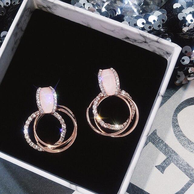 Classic Acrylic Women Stud Earrings Circle Earrings Fashion Jewelry Womens Accessories 4