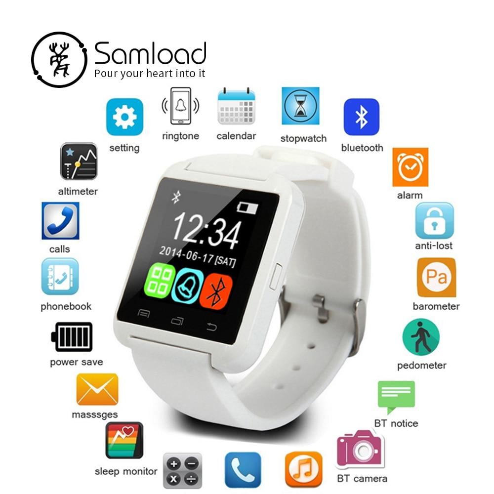 Reloj inteligente con Bluetooth, reloj inteligente U8 reloj digital relojes deportivos para IOS Android Teléfono de Samsung portátil dispositivo electrónico