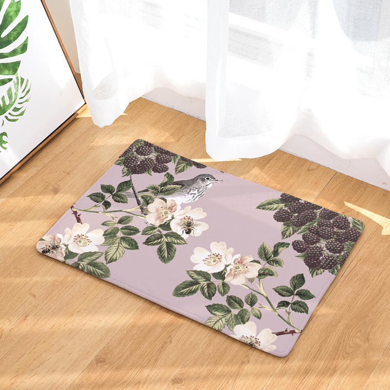 2017 hot sale New Anti- Slip Welcome Floor Mats Cute flower Hallway Kitchen Rug Decoration Stair Carpets Light Thin Crafts Rugs