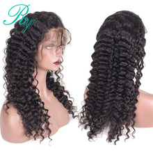 150 Density Riya Hair Lace Front Human Hair Wigs For Black Women Pre Plucked Brazilian Deep Wave Wig With Baby Hair 8-24 Inch
