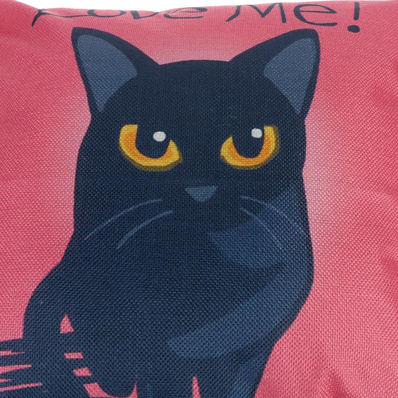 HTB1IcPROhTpK1RjSZFMq6zG VXas Vintage white and black Cat Dog Cotton cute Pillow Sofa Waist Throw Cushion Home Car Decor