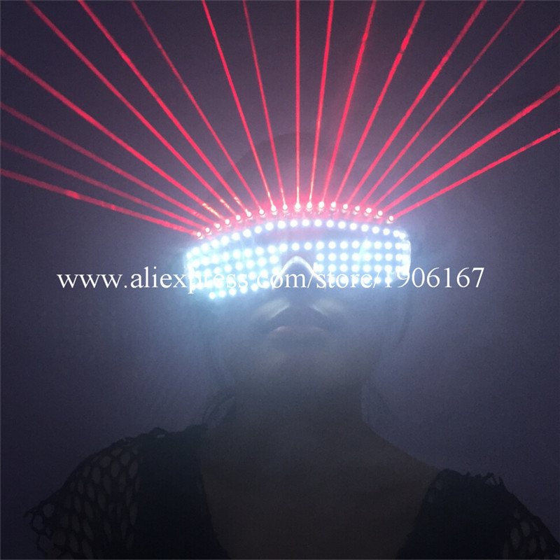 New Design Christmas Halloween Led Luminous Red Laser Man Glasses Party With 18 Pcs Lasers Laserman Glasses For Laser ShowNew Design Christmas Halloween Led Luminous Red Laser Man Glasses Party With 18 Pcs Lasers Laserman Glasses For Laser Show