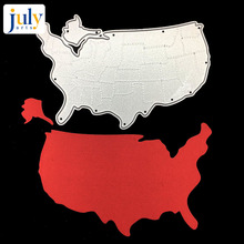 Julyarts United States Map Cutting Dies Metal of America For Paper Album Greeting Cards