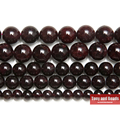 "Free Shipping Natural Stone Dark Red Garnet Round Loose Beads 15"" Strand 4 6 8 10 12 MM Pick Size For Jewelry Making No.SAB15"