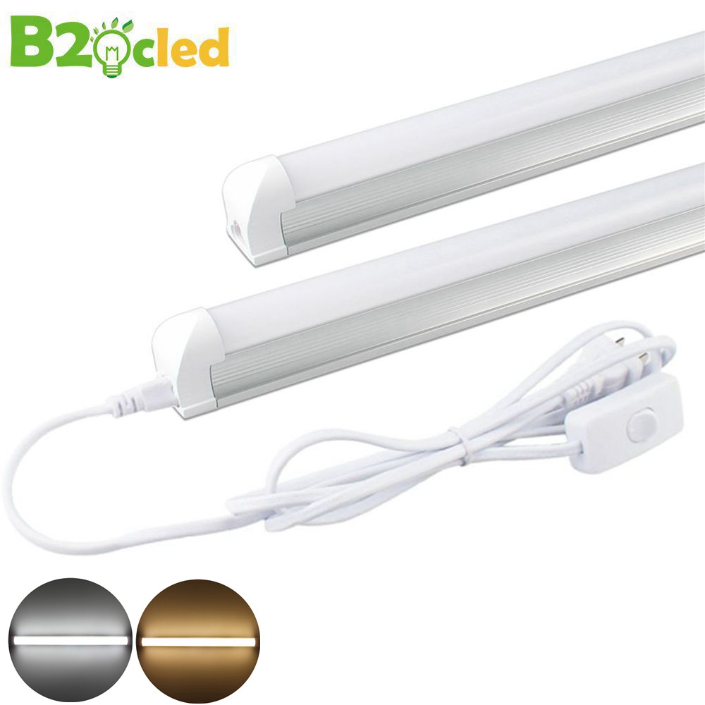 led tube light t8 integrated 9w with eu switch. Black Bedroom Furniture Sets. Home Design Ideas