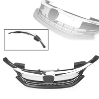 Front Grille Upper Grill For Honda Accord Sedan 9th 2016 2017 16 17 Chrome Black ABS Plastic Auto Car Original Style Accessories