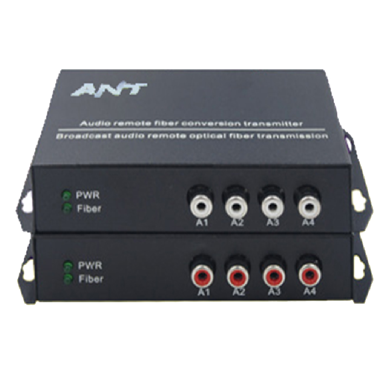 4ch RCA audio to fiber optic converter 20km/100km,point to point or Daisy Chain connection-in Transmission & Cables from Security & Protection    2