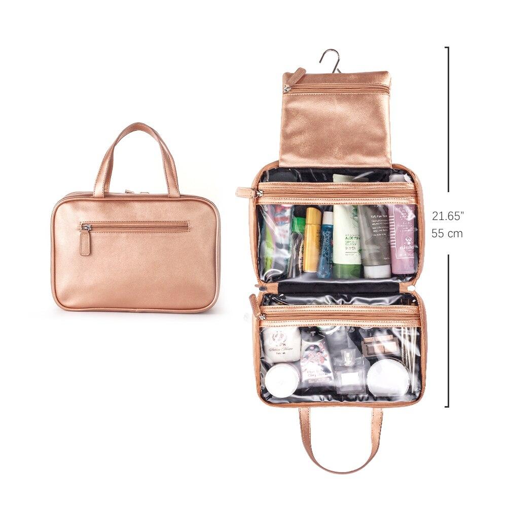 Купить с кэшбэком Mealivos Rose Gold Large Versatile Travel Cosmetic Bag - Perfect Hanging Travel Toiletry Organizer