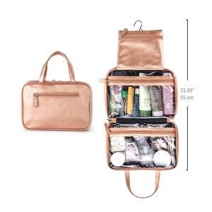 Image 5 - Mealivos różowe złoto duża uniwersalna kosmetyczka podróżna idealne wiszące organizator przyborów toaletowych