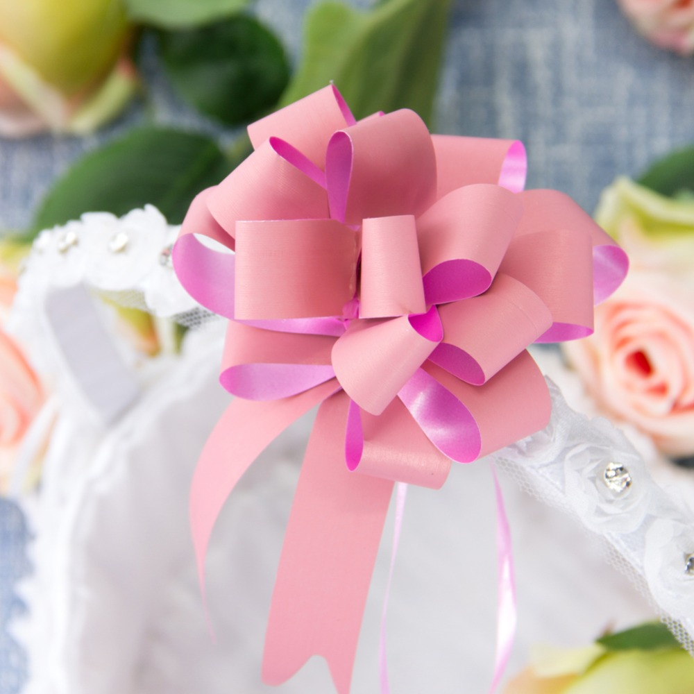 10pcs set Pull Bow Gift Ribbons Flower Wrappers For Wedding Events Birthday Decoration Happy New Year Christmas Gifts Decoration in Banners Streamers Confetti from Home Garden