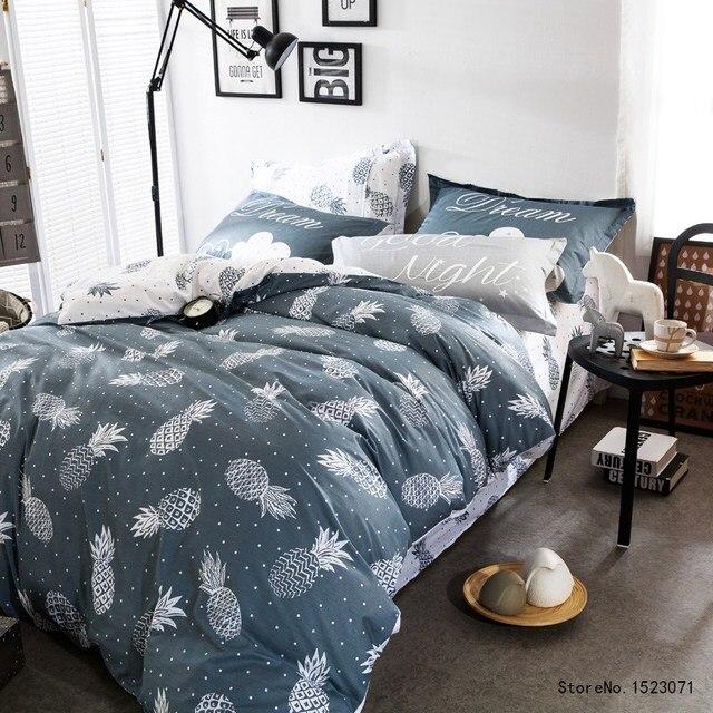 housse couette couvre lit TUTUBIRD ananas impression literie ensemble Cristal Tableaux  housse couette couvre lit