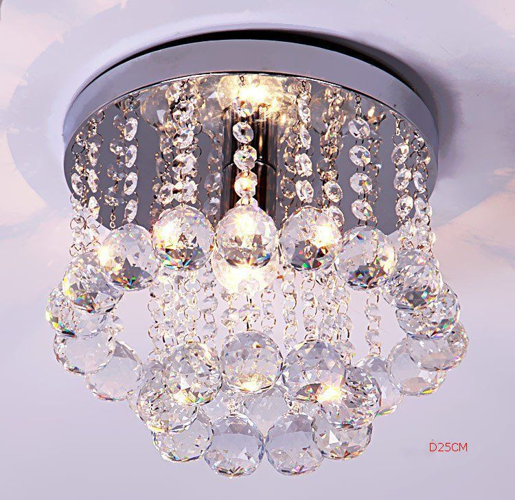 Chandelier Crystal Lighting Lustre Top K9 Crystal Stainless Steel Frame Luminaria Lampe Cristal Lustre Diameter 15CM 20CM 25CM
