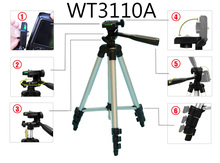 Universal Portable Tripod for Camera Phone with Holder Phone Clip Flexible Camera Accessories Travel Outdoor Photographic