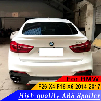 For BMW X6 2014-2017 high quality ABS material spoiler X6 rear trunk spoiler rear spoiler by primer or black or white