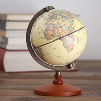 World Globe Geography Educational Science Toys Ornaments for Home Decoration Vintage Retro Toys 5 Inches Diamete Chinese Version