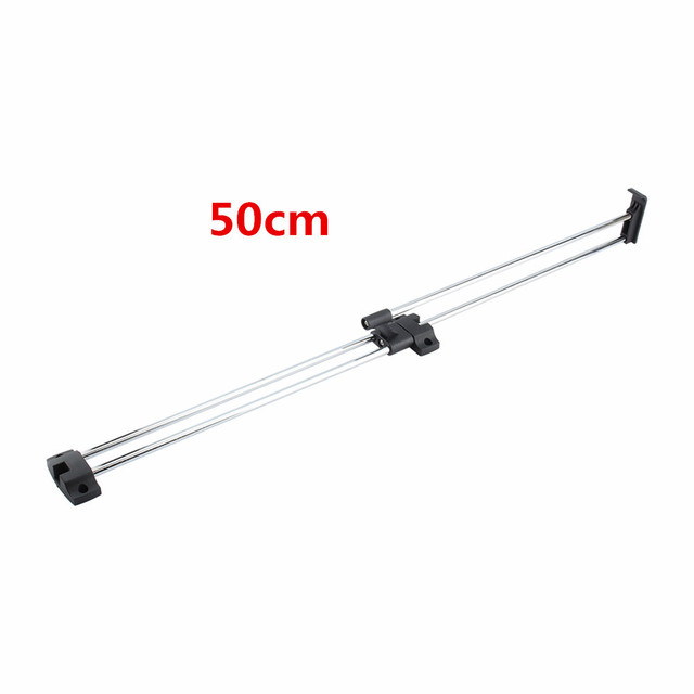 1Pc 50cm Wardrobe Chrome Pull Out Towel Coat Racks Retractable Wardrobe  Clothes Hanger Rail Closet Rod