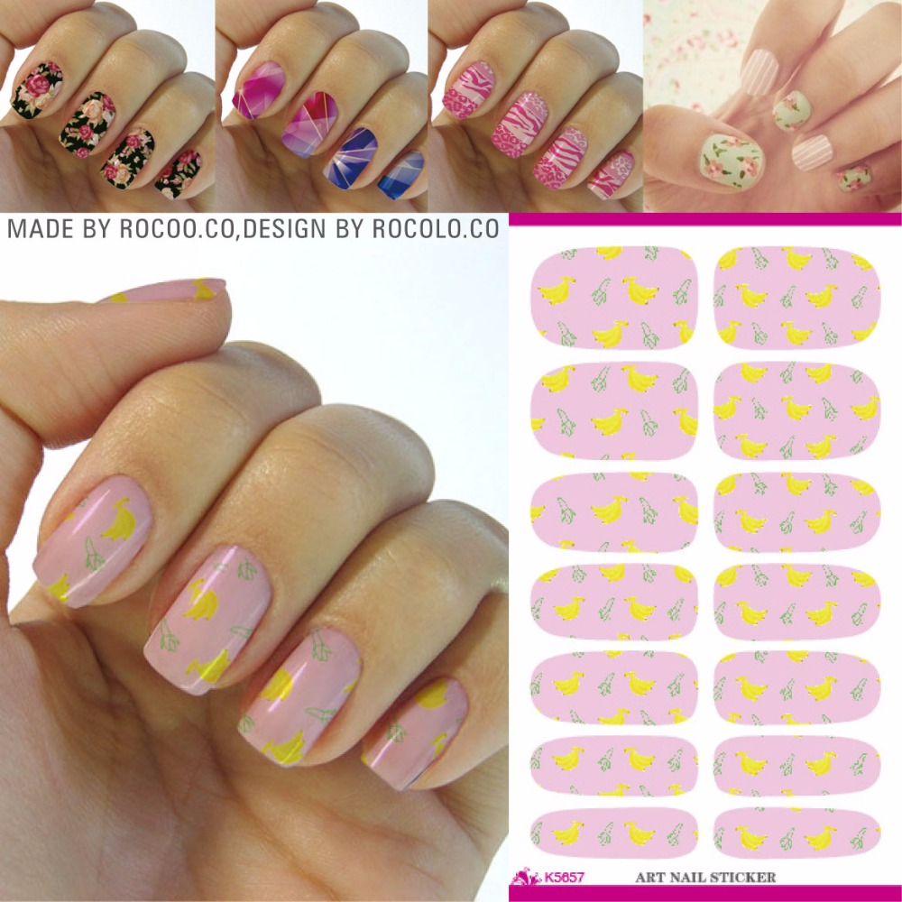 Rocooart K5657 Fresh Banana Fruit Nail Art Designs Water Transfer ...