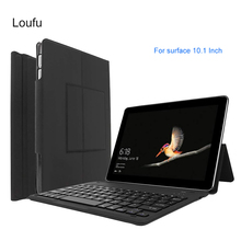 Loufu For Microsoft Surface Go 2018 Case Slim Folio Shell Protective Stand Leather Cover For Microsoft Surface Go 10.1 Inch