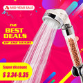 ZhangJi Mid-Year Sale Therapy Shower Anion SPA Handheld Shower Head Water Saving Rainfall Filter Shower Head High Pressure ABS
