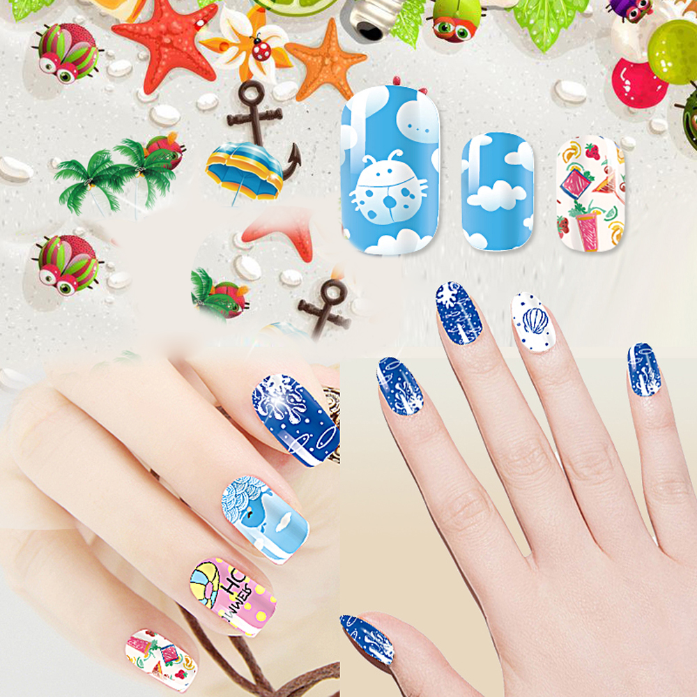 2017 Fashion Beauty Professional Stick Hot Sting 3d Nail Art Stickers Decals For Tips Decorations