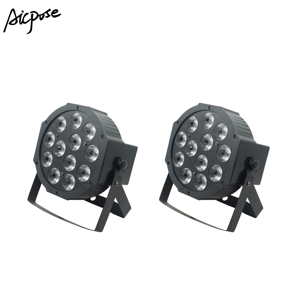 2Pcs/lots Led Par Lights 12x12W 6 in1 RGBWA UV Flat Par Led With dmx512 Control Wall Washer Lighting Wedding Party Stage Light2Pcs/lots Led Par Lights 12x12W 6 in1 RGBWA UV Flat Par Led With dmx512 Control Wall Washer Lighting Wedding Party Stage Light
