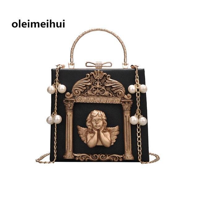 Box Women Mini Tote Bag Black Female Shoulder bags with Strap Combination  lock Box Trunk Designer Ladies Handbags Photo frame an 71e65d42bd