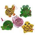 Деревянные магнитные щеткой лабиринт животных звезды небольшой лабиринт развивающие игрушки для детей подарки