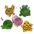 Wooden Magnetic brush maze Animal starfish Small Maze Educational Toys for Kids  gifts