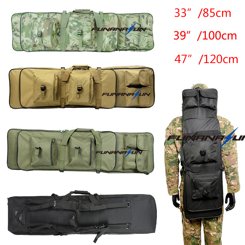 цена на 85cm/100cm/120cm Military Shotgun Molle Backpack Airsoft Square Bag  Rifle Shoulder Backpack Hand Carry Gun Protection Case