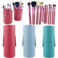 12PCS Makeup Brushes Professional BLUEFRAG Make Up Brush Holder Set Pincel Maquiagem For Beauty Contour Kit