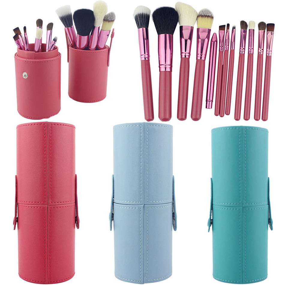 12PCS Makeup Brushes Professional BLUEFRAG Make Up Brush Holder Set Pincel Maquiagem for Beauty Contour kit Foundation Cosmetics aquarium liquid glitter brush set mermaid makeup brushes bling bling glitter handle make up brush kit pincel sereia maquiagem