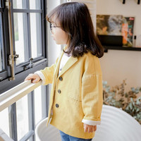 DFXD Kids Blazers Jackets 2019 Spring New Fashion Children Soild Long Sleeve Single breasted Blazer Outwear For Baby 1 7Yrs