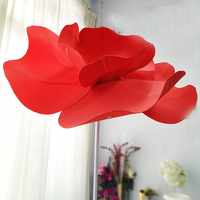 Giant Artificial Poppies PE Big Foam Flower Head Shop Window Display Flower Wedding Road Lead Flower Party Stage Decoration