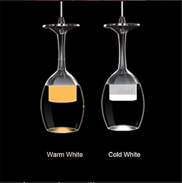 Free Shipping 3Wx3 LED Light Cup Chandelier Light Wineglass Pendant Lamp for Living Room Bar Saloon Dining Room 110-240v